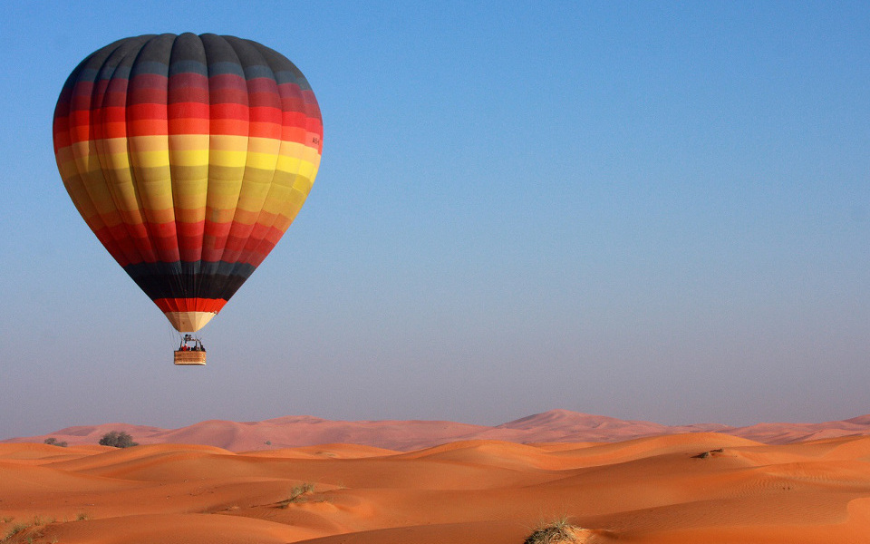 Romantic Desert Hot Air Balloon